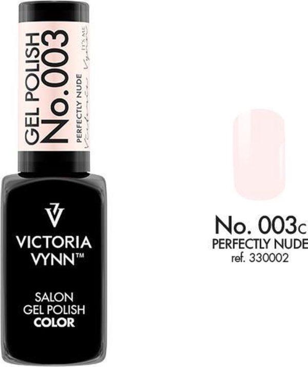 Gellak Victoria Vynn™ Gel Nagellak - Salon Gel Polish Color 003 - 8 ml. - Perfectly Nude
