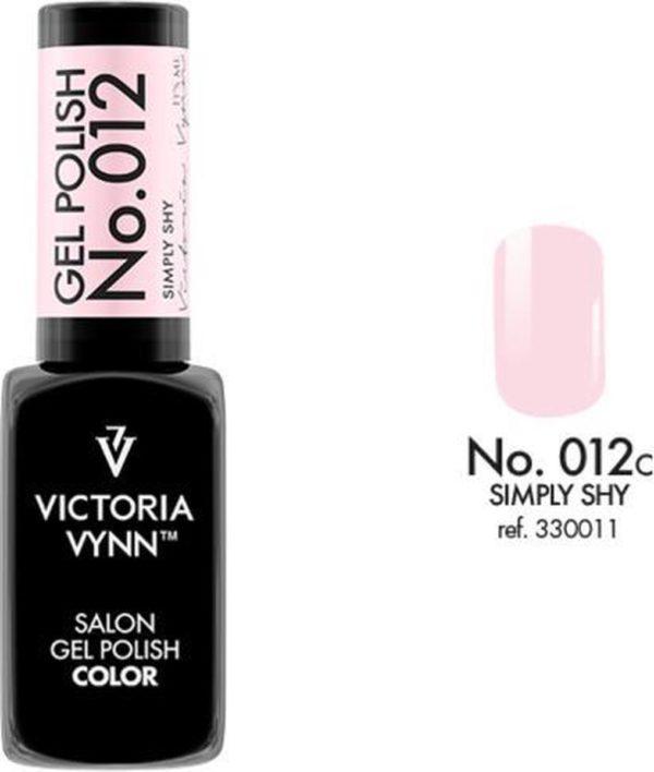 Gellak Victoria Vynn™ Gel Nagellak - Salon Gel Polish Color 012 - 8 ml. - Simply Shy