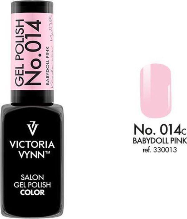 Gellak Victoria Vynn™ Gel Nagellak - Salon Gel Polish Color 014 - 8 ml. - Babydoll Pink