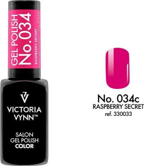 Gellak Victoria Vynn™ Gel Nagellak - Salon Gel Polish Color 034 - 8 ml. - Raspberry Secret