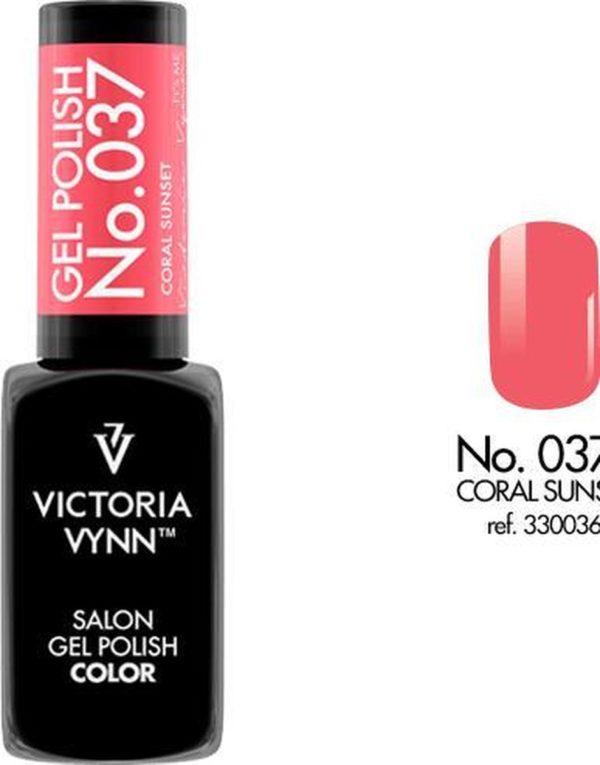 Gellak Victoria Vynn™ Gel Nagellak - Salon Gel Polish Color 037 - 8 ml. - Coral Sunset