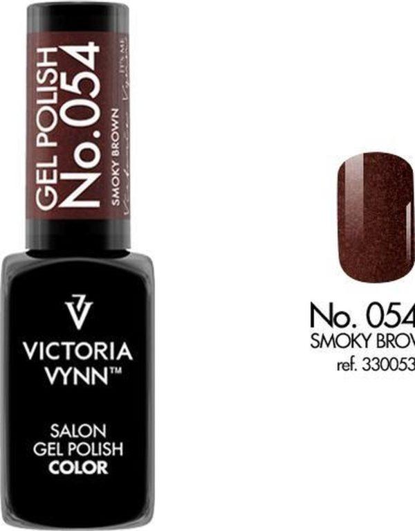 Gellak Victoria Vynn™ Gel Nagellak - Salon Gel Polish Color 054 - 8 ml. - Smoky Brown