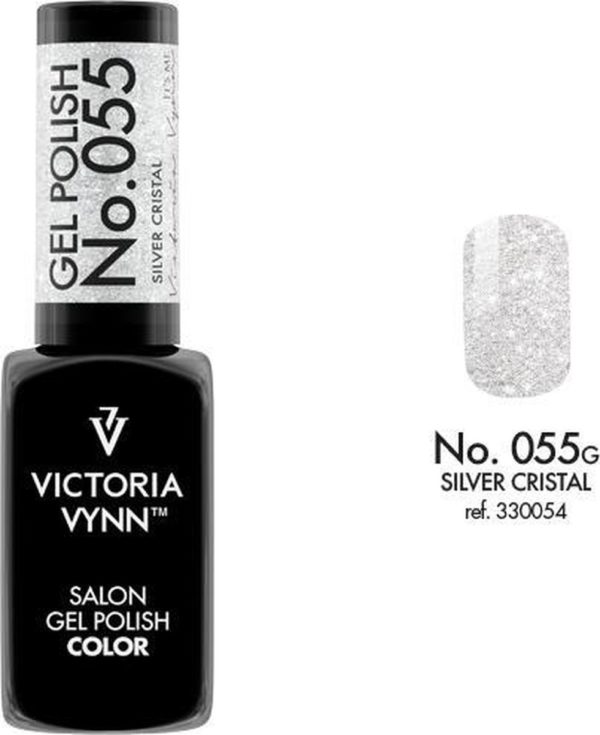 Gellak Victoria Vynn™ Gel Nagellak - Salon Gel Polish Color 055 - 8 ml. - Silver Cristal