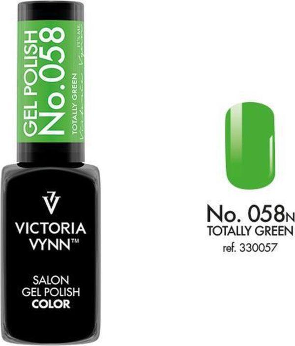 Gellak Victoria Vynn™ Gel Nagellak - Salon Gel Polish Color 058 - 8 ml. - Totally Green