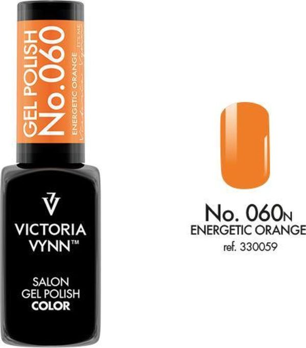 Gellak Victoria Vynn™ Gel Nagellak - Salon Gel Polish Color 060 - 8 ml. - Energetic Orange