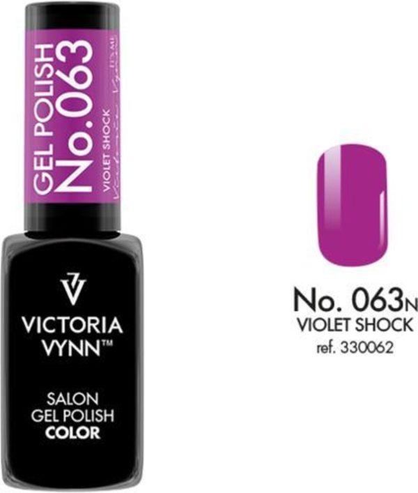 Gellak Victoria Vynn™ Gel Nagellak - Salon Gel Polish Color 063 - 8 ml. - Violet Shock
