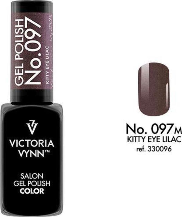 Gellak Victoria Vynn™ Gel Nagellak - Salon Gel Polish Color 097 - 8 ml. - Kitty Eye Lilac