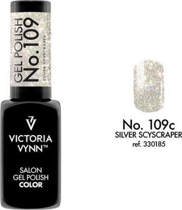 Gellak Victoria Vynn™ Gel Nagellak - Salon Gel Polish Color 109 - 8 ml. - Silver Scyscraper