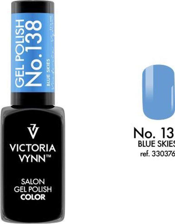 Gellak Victoria Vynn™ Gel Nagellak - Salon Gel Polish Color 138 - 8 ml. - Blue Skies