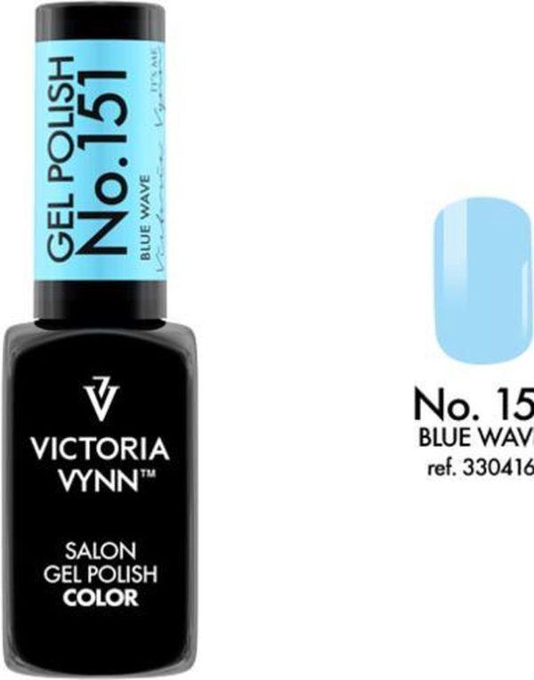 Gellak Victoria Vynn™ Gel Nagellak - Salon Gel Polish Color 151 - 8 ml. - Blue Wave
