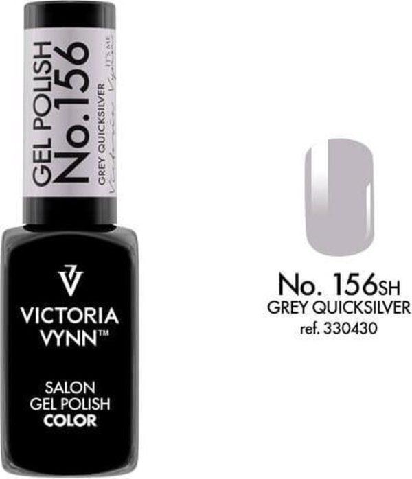 Gellak Victoria Vynn™ Gel Nagellak - Salon Gel Polish Color 156 - 8 ml. - Grey Quicksilver