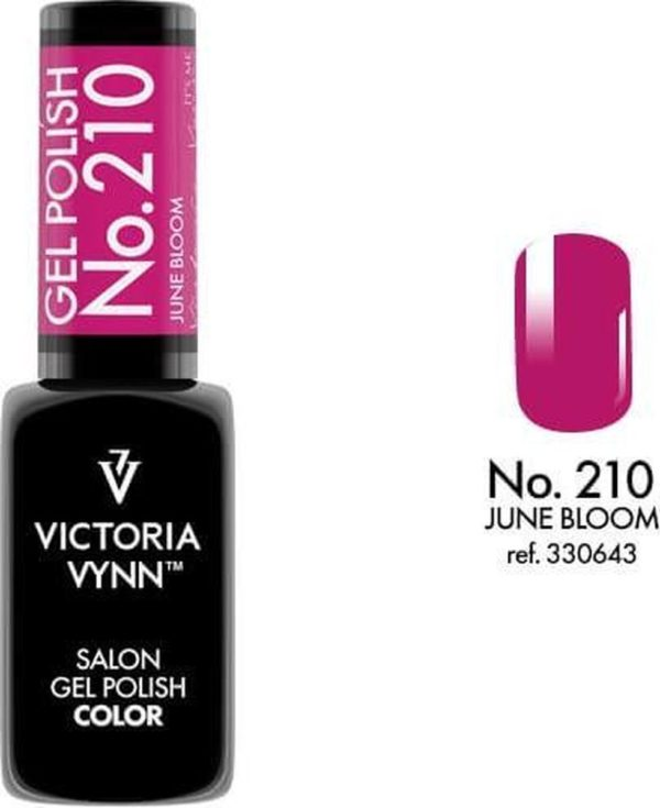 Gellak Victoria Vynn™ Gel Nagellak - Salon Gel Polish Color 210 - 8 ml. - June Bloom