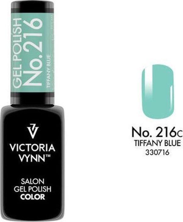 Gellak Victoria Vynn™ Gel Nagellak - Salon Gel Polish Color 216 - 8 ml. - Tiffany Blue