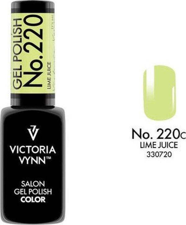 Gellak Victoria Vynn™ Gel Nagellak - Salon Gel Polish Color 220 - 8 ml. - Lime Juice