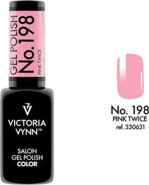 Gellak Victoria Vynn™ Gel Nagellak - Salon Gel Polish Color 198 - 8 ml. - Pink Twice