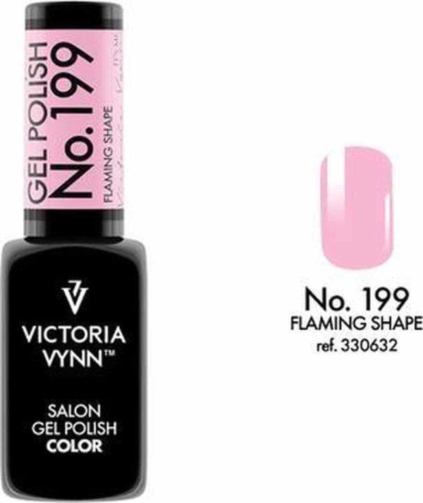 Gellak Victoria Vynn™ Gel Nagellak - Salon Gel Polish Color 199 - 8 ml. - Flaming Shape