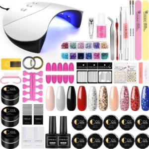 Gellak starters pakket PRO - EXTRA VEEL Accessoires - Glitter - 10 Kleuren - Nageldroger - 54W UV Lamp - Acryl Nagel - Nagel Gereedschap - Gel Nagellak - XXL pakket - Premium