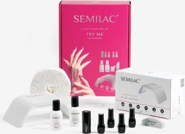 Gellak starterset | Semilac Starterkit Gellak | Try Me | LED 36 watt | Set bevat 2 kleuren | Een zeer complete en voordelige starter kit om jouw nagels mooi te maken