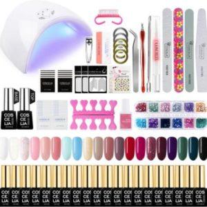 Gellak starterspakket 20 kleuren - Gellakset - UV lamp 36W - LED - Manicure - Nagellak - Nail art - 20 kleuren gel polish - Nepnagels - Nagellakset - Gellakset