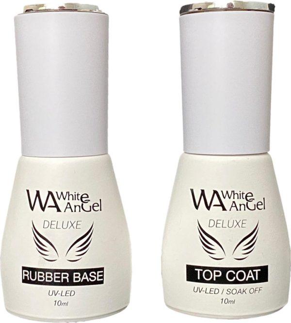 Gellex Rubber Base Coat 10ml & Rubber Top Coat 10ml, Gel Nagellak Led/UV Gellak Set