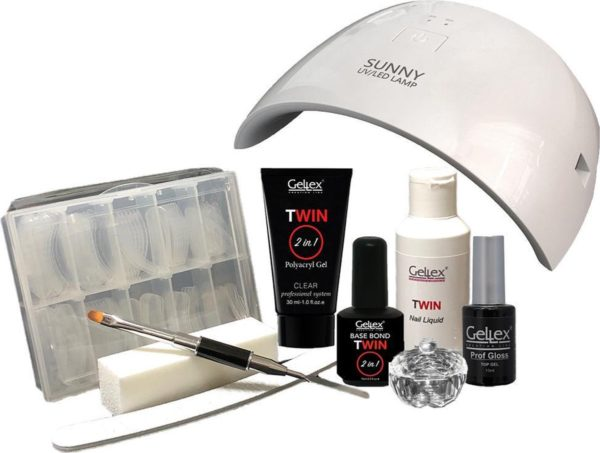 Gellex Twin Polyacryl Gel Kit - Met UV/LED lamp 24W