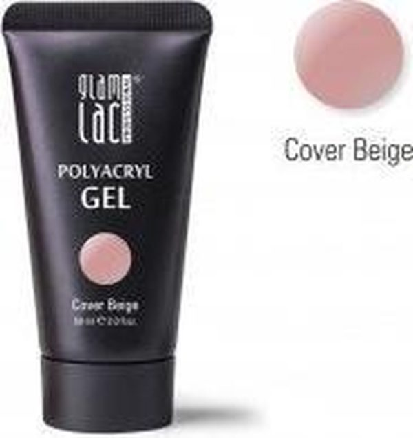 Glamlac Polygel - Polyacryl Gel Cover Beige 60 ml. / In super handige tube!