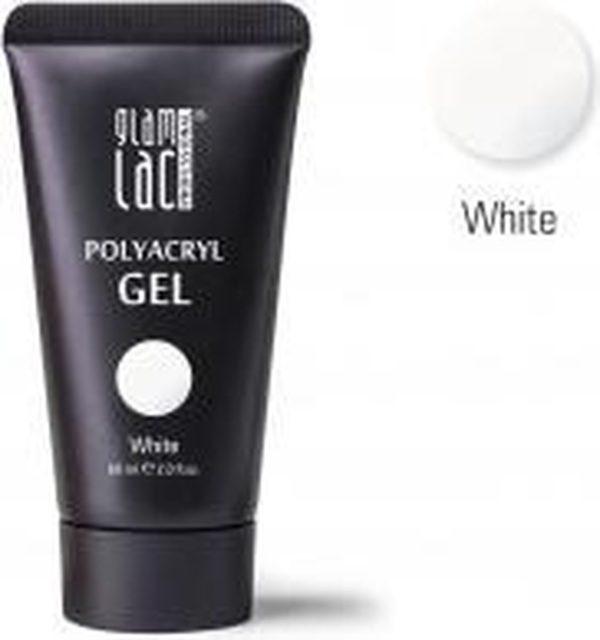 Glamlac Polygel - Polyacryl Gel White 60 ml. - In super handige tube! - Voor nagelverlenging en versteviging