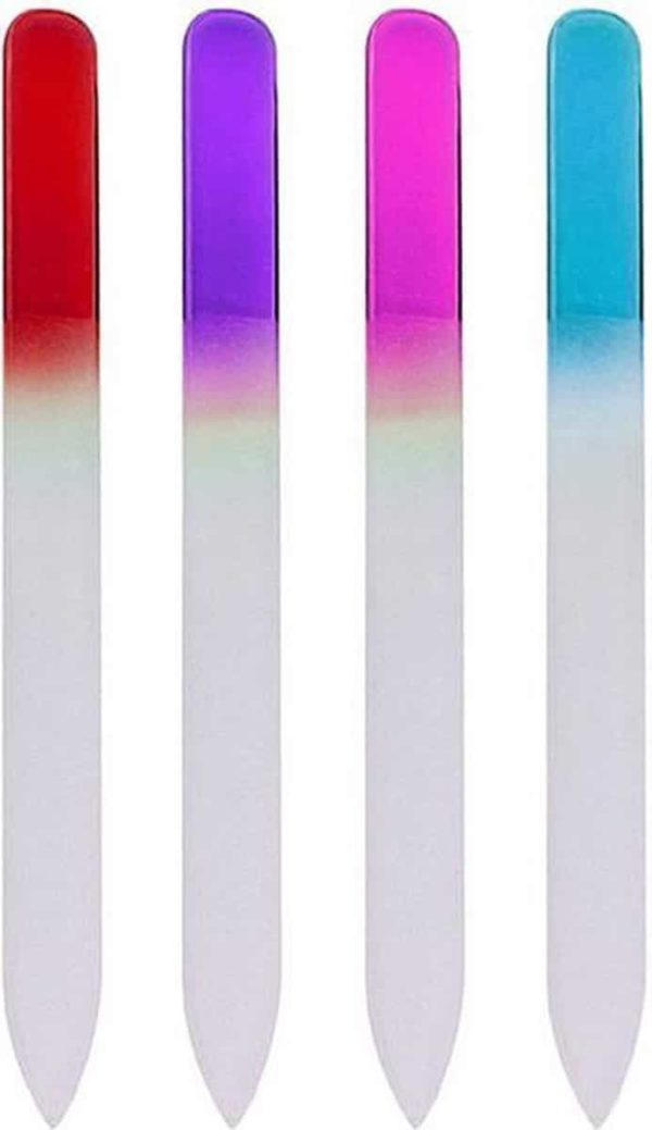 Glazen Nagelvijl - 4 Kleuren - Glasvijl - Manicure - oDaani