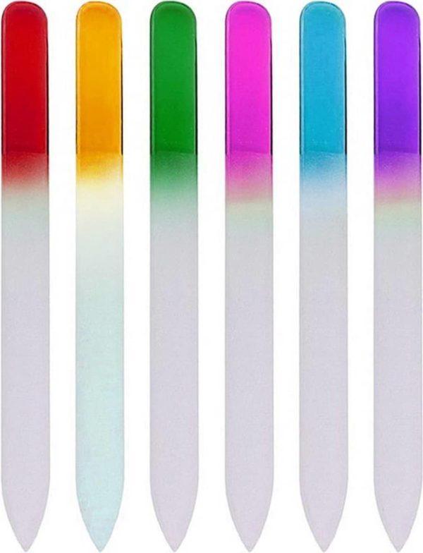 Glazen Nagelvijl - 6 Kleuren - Glasvijl - Manicure - oDaani