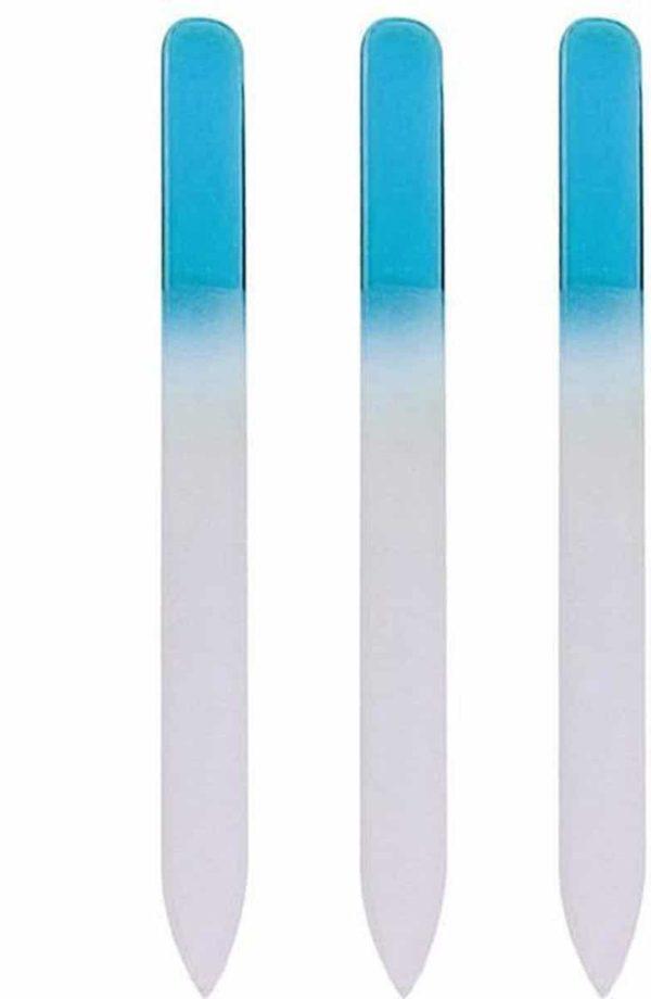 Glazen Nagelvijl Blauw - 3 Stuks - Glasvijl - Manicure - oDaani