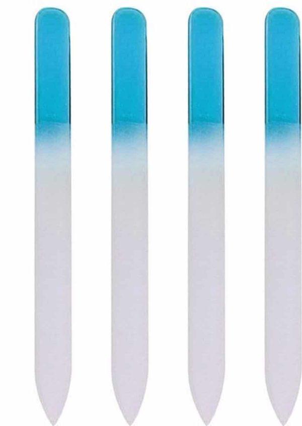 Glazen Nagelvijl Blauw - 4 Stuks - Glasvijl - Manicure - oDaani