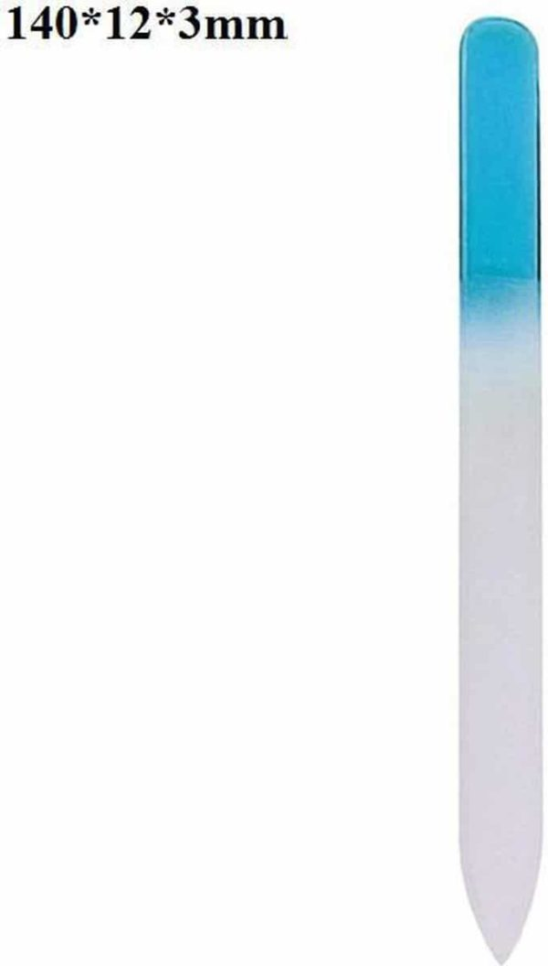 Glazen Nagelvijl Blauw - Glasvijl - Manicure - oDaani