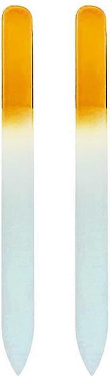 Glazen Nagelvijl Geel - 2 Stuks - Glasvijl - Manicure - oDaani