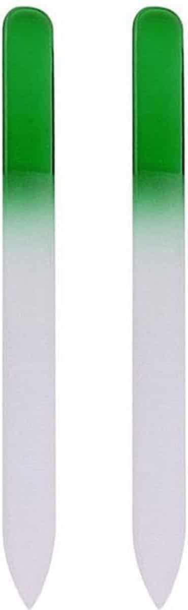 Glazen Nagelvijl Groen - 2 Stuks - Glasvijl - Manicure - oDaani