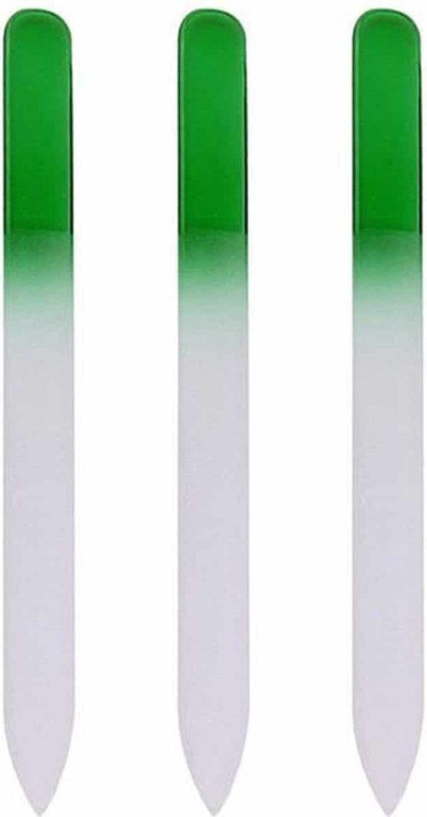 Glazen Nagelvijl Groen - 3 Stuks - Glasvijl - Manicure - oDaani