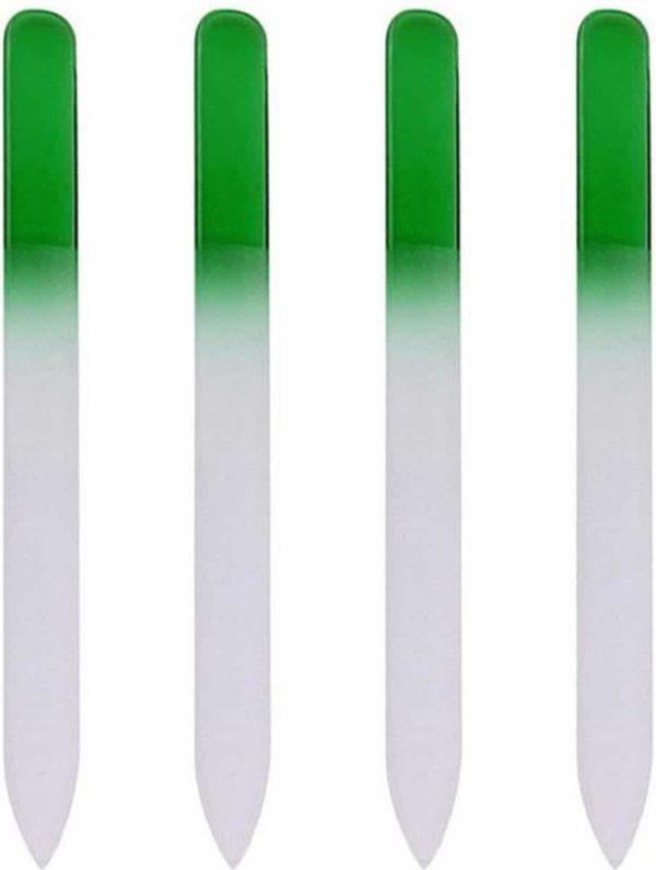Glazen Nagelvijl Groen - 4 Stuks - Glasvijl - Manicure - oDaani