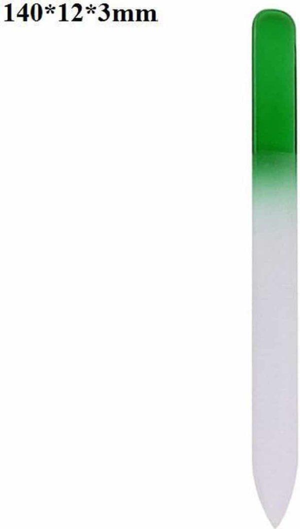 Glazen Nagelvijl Groen - Glasvijl - Manicure - oDaani