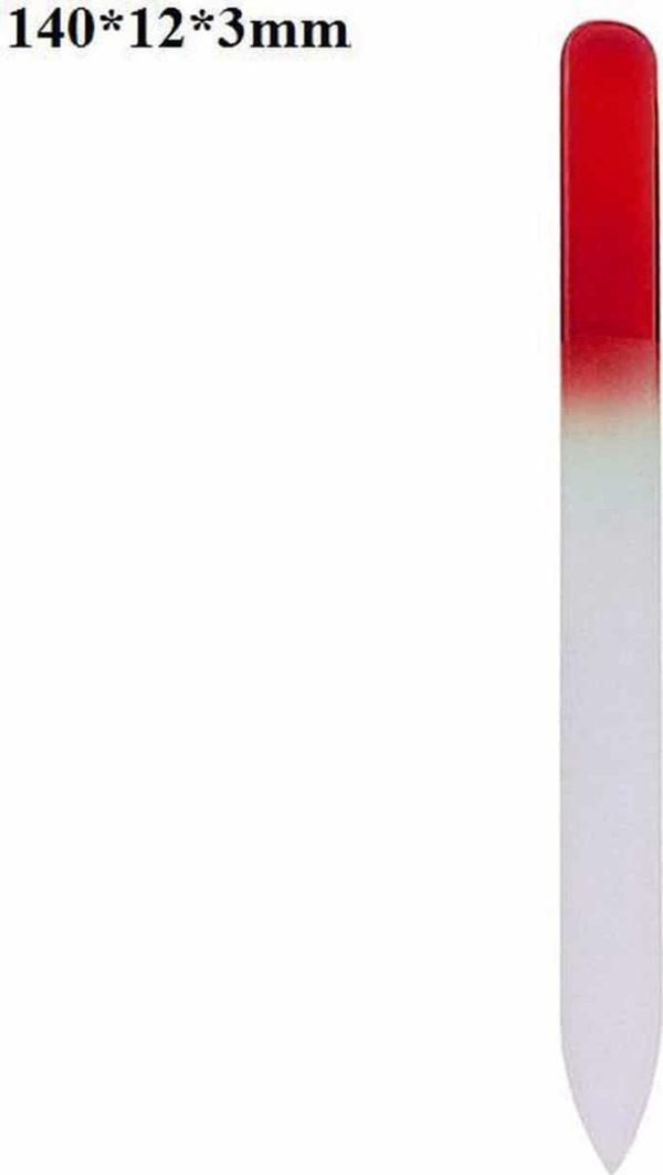 Glazen Nagelvijl Rood - Glasvijl - Manicure - oDaani