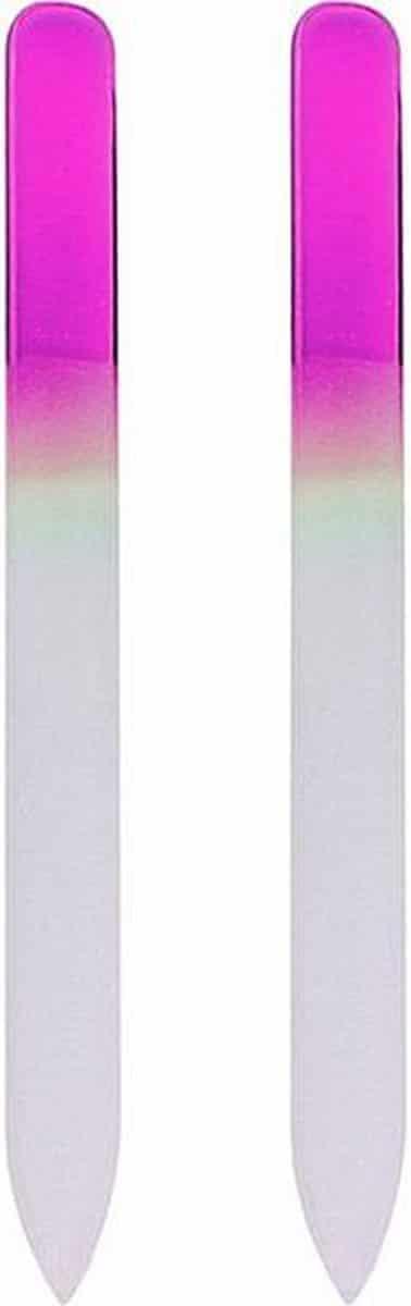 Glazen Nagelvijl Roze - 2 Stuks - Glasvijl - Manicure - oDaani