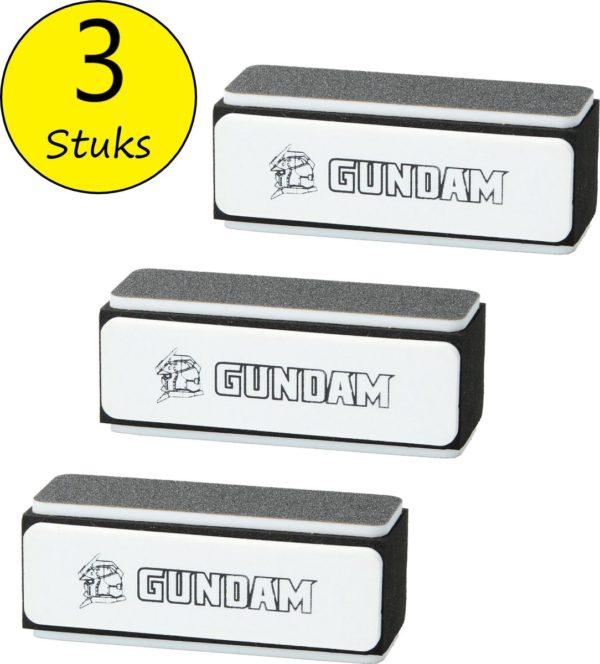 Gundam Nagel Buffer Blok 3 stuks - Korrel 80/240 - Nagelvijl Vier kanten