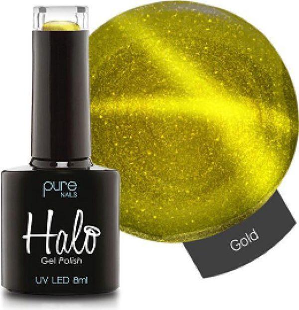 Halo Gel Polish Gold (Cat Eye) - Cat Eye Gellak zorgt voor een heel bijzondere uitstraling - zowel voor de professional als voor thuis