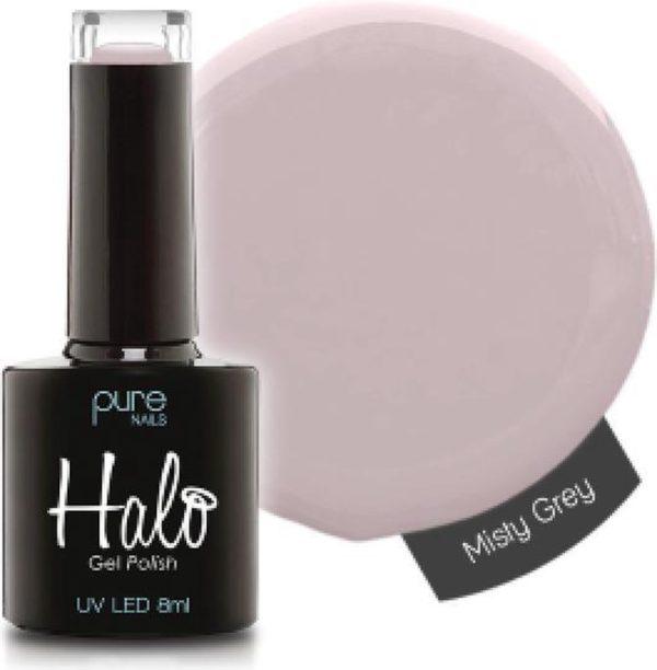 Halo Gel Polish Misty Grey (uitstekende gellak zowel voor de professional als voor thuis)