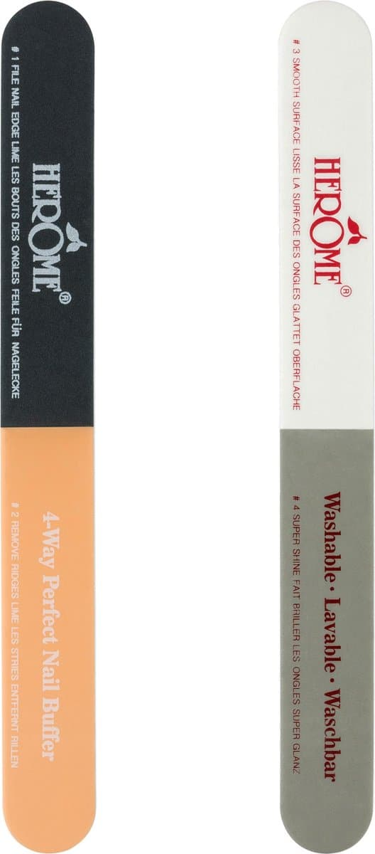 Herome 4-Way Perfect Nail Buffer - Nagelvijl en Polijstvijl Met 4 Verschillende Oppervlakken