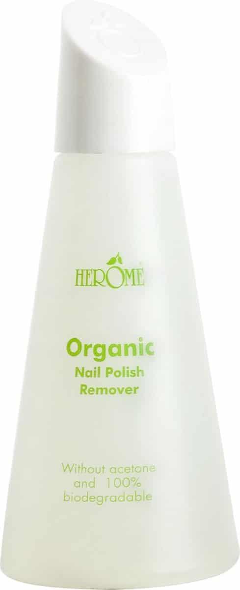 Herome Organic & Pure Nagellakremover - 120ml.- een milde, aceton-vrije remover die de nagels optimaal reinigt en verzorgt