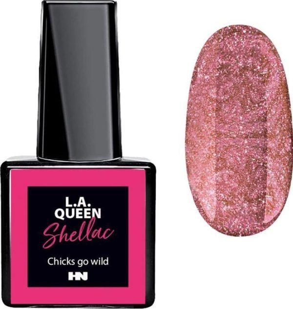 Hollywood Nails - Gellak - Gel nagellak - Color gel - L.A. Queen UV Gel Shellac - Chicks go wild #24 15 ml
