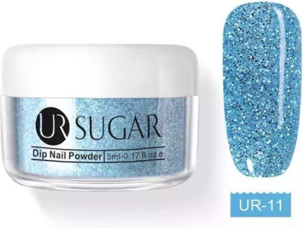 Holografische Dip Glitter Poeder - Azul / Turquoise / Blauw - 30ml - Nail-Art