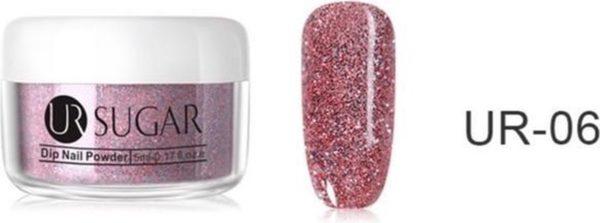 Holografische Dip Glitter Poeder - Roze / Rosé - 5gr - Nail-Art