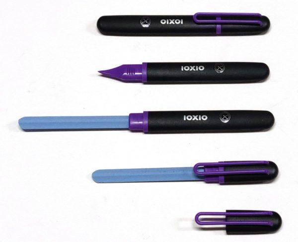 IOXIO Care Keramische Nagelvijl Paars - Professionele Keramische Nagelvijl, lengte 14 cm, vijloppervlak 8,5 x 1 cm