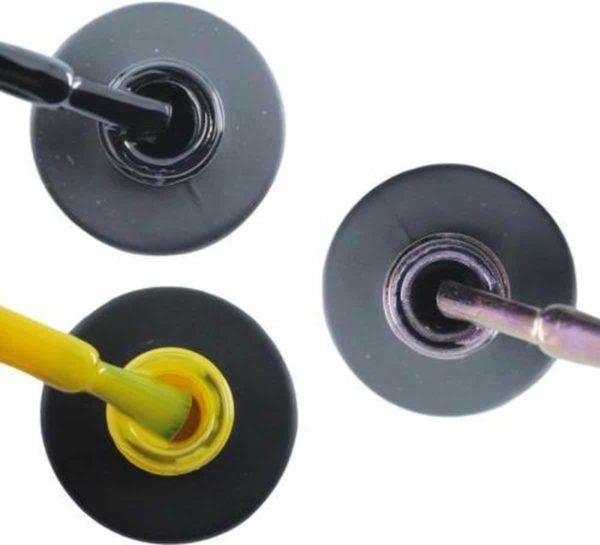 Influence Gellac 3 x 10 ml - BADBLACK & SHINYYELLOW & VIOLETCATEYE - UV / LED Gellak - Gel nagellak - Gel lak - Zwart Geel Paars / glitter / blauw