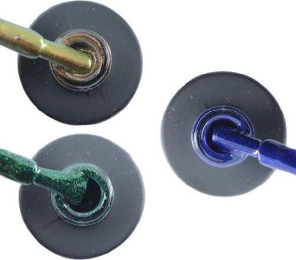 Influence Gellac 3 x 10 ml - CHAMPAGNECATEYE & GUILTYGREEN & DENIMBLUE - UV / LED Gellak - Gel nagellak - Gel lak - Bruin Groen Blauw